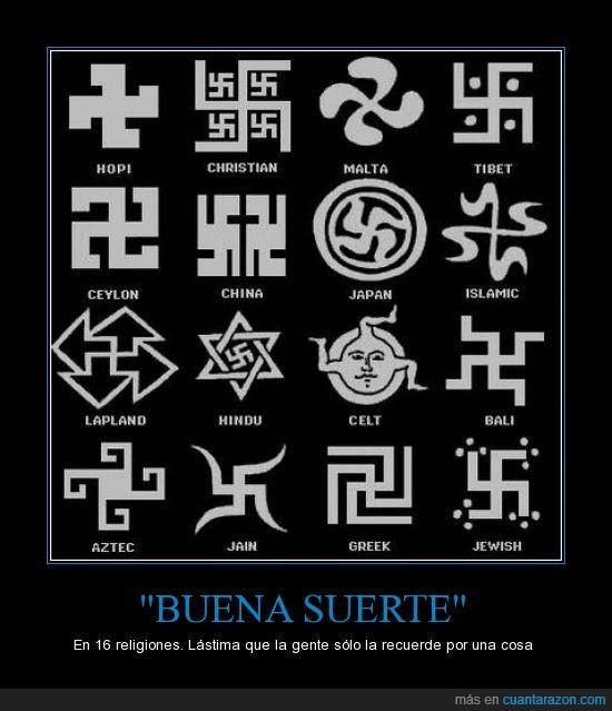 azteca,bali,buena suerte,celta,ceylon,china,cristiana,Esvástica,griega,hindu,hopi,islámica,jain,japonesa,judía,lapona,malta,nazismo,religión,si si TAMBIÉN judía,símbolo,tibetana