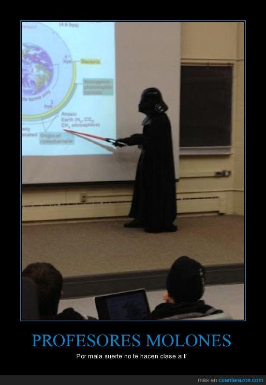 darth vader,molón,profesor,sable laser