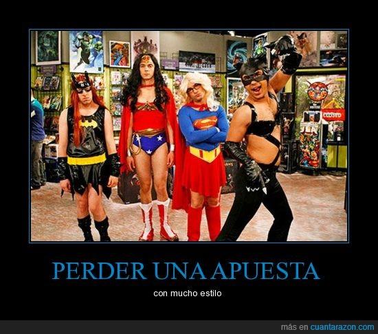 big bang theory,disfraces,raj esta encantado,superheroes