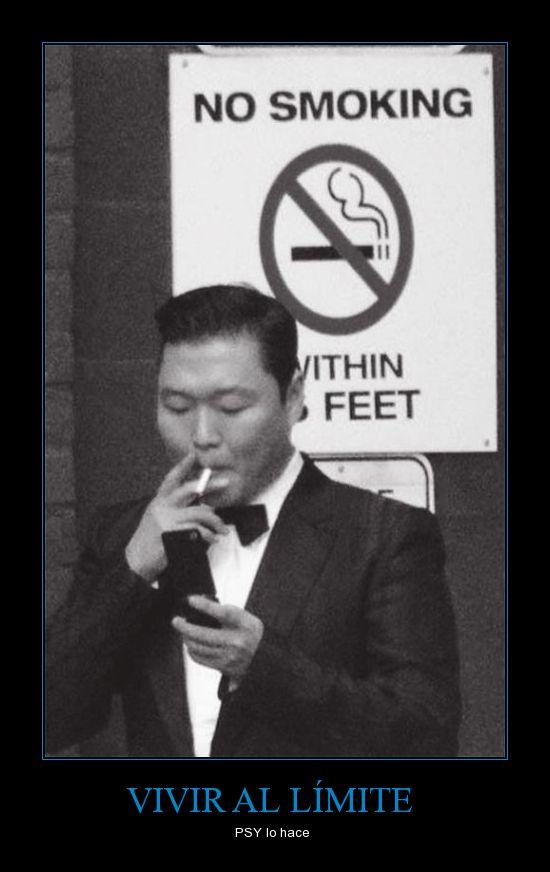 fumar,gangnam style,korea,malote,prohibido,PSY