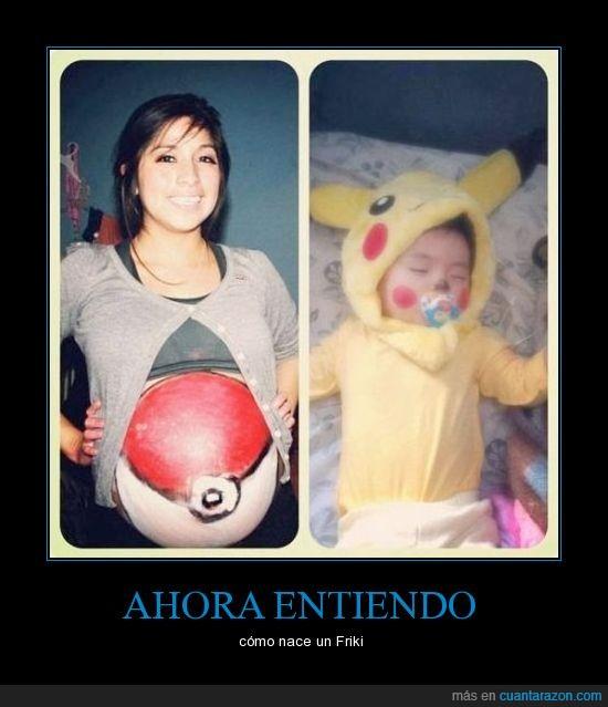 bebe,hijo,madre,niño,pikachu,pokeball,pokemon,traje