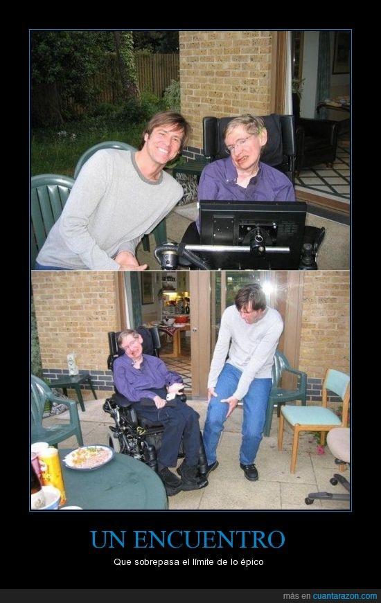 encuentro,épico,incluso mas expresivo que Kristen Stewart,Jim Carrey,Stephen Hawking