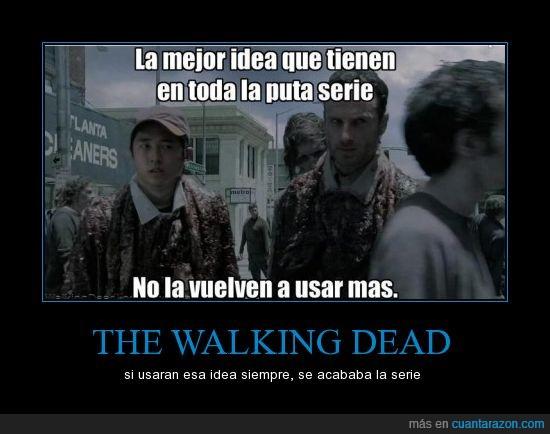 entraña,idea,idea maravillosa,muerto,olor,parte,pieza,tapar,The Walking Dead,tripa,zombie