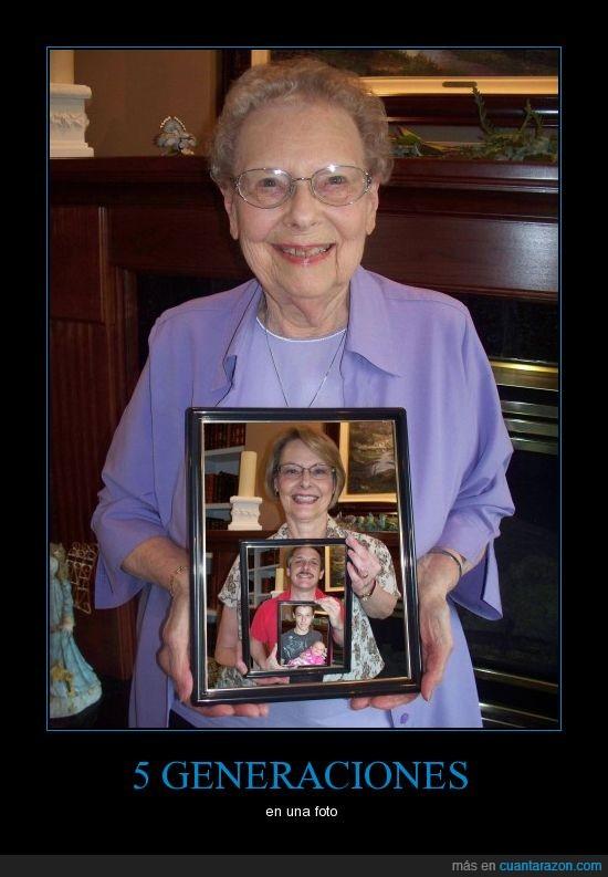 abuela,bebe,foto,generaciones,hija,hijo,maco,nieto,padre