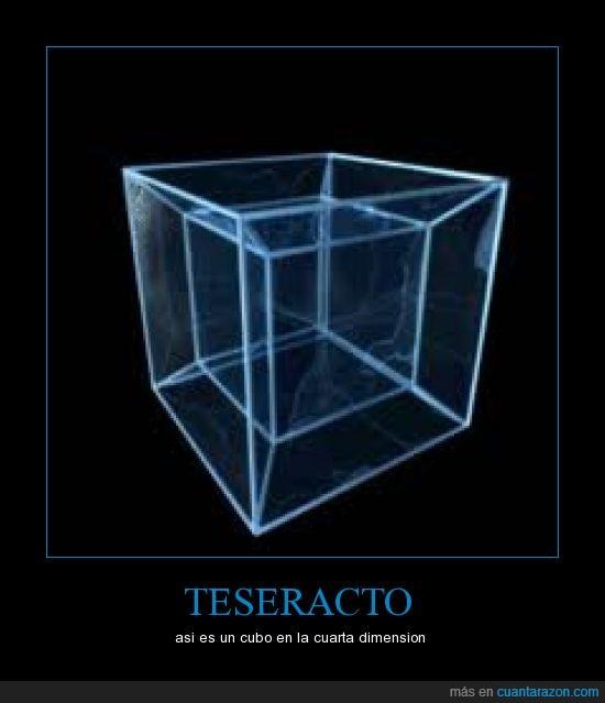 cubo,dimension,hipercubo,teseracto
