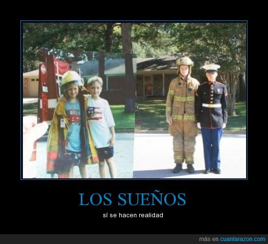 bomberos,hermenos,militar,niños,sueños