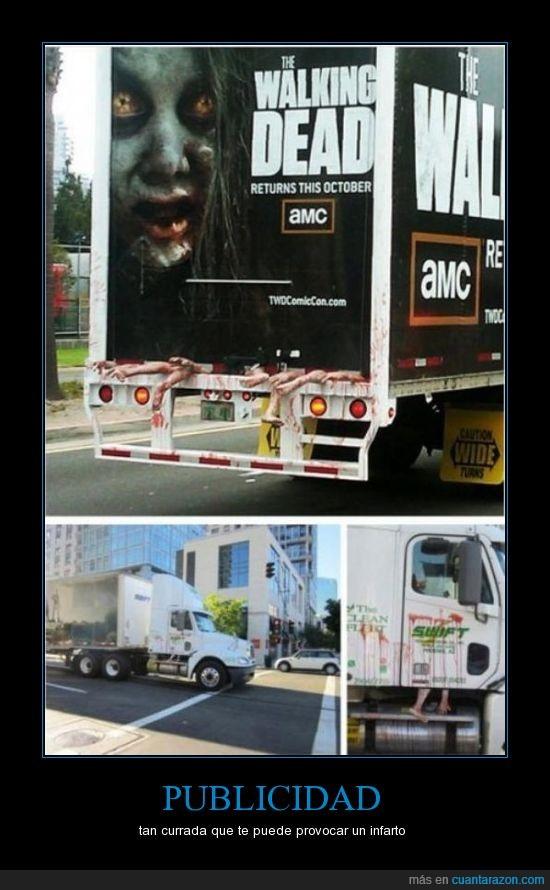 amputado,brazo,camion,muerto,Publicidad,Walking Dead,Zombies