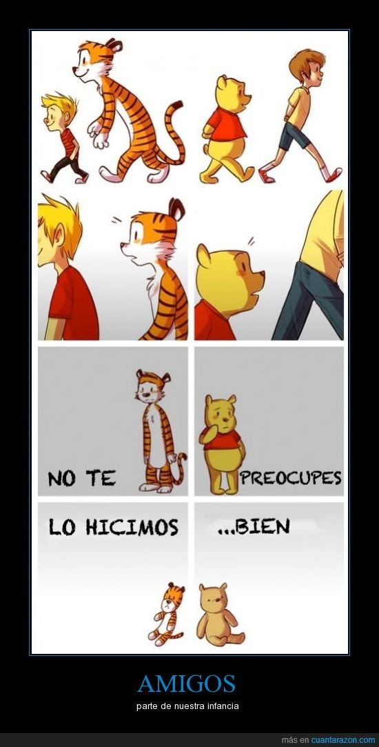 Calvin and Forbes,crecer,Cristopher Robin,infancia,peluches,Winnie the Pooh