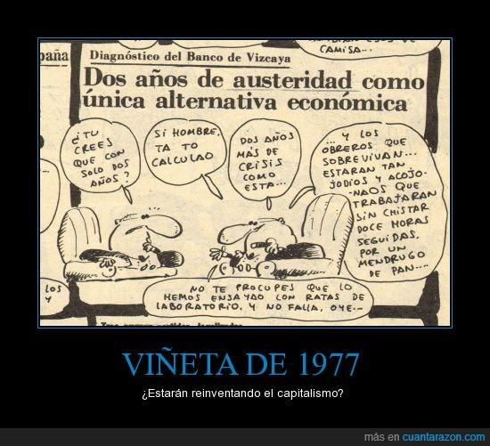 1977,acojonados,demasiado coincidencia,El Papus,explotación,obreros,viñeta