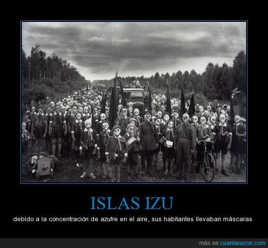 contaminacion,experimentos,Islas,izu,poblacion,volcanes