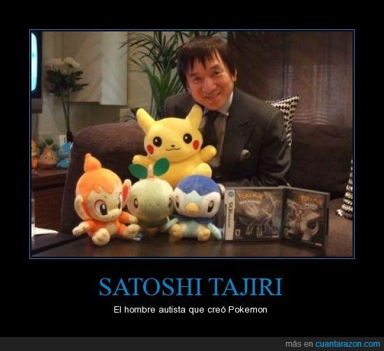 autismo,bichos,hombre,japonés,pedazo de napia tiene,pokemon,satoshi tajiri