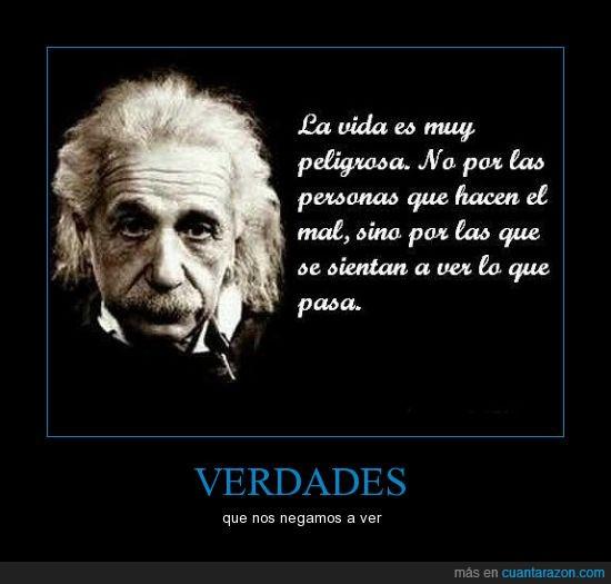 Albert Einstein,hacer,pasa,peligro,sentar,ver,vida