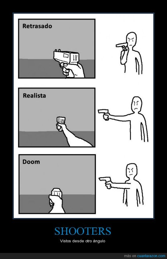 disparos,doom,mano,pistola,pov,realista,retrasado,shooter,vista