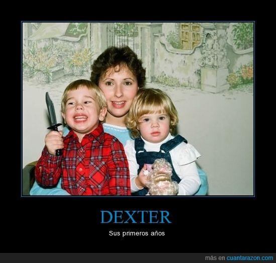 asesino,cuchillo,dexter,familia,foto,niño
