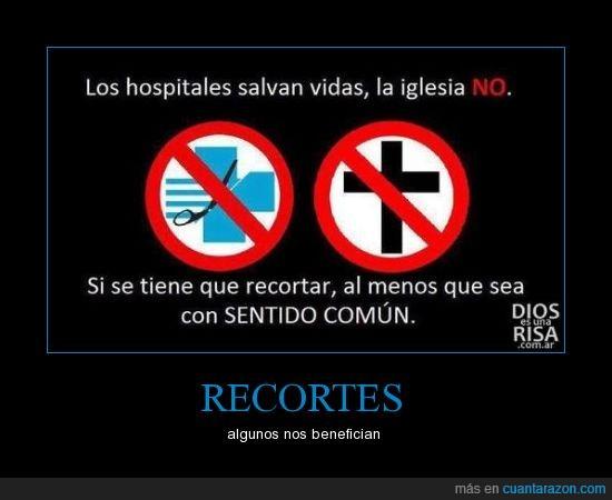 comun,hospital,iglesia,recortes,sentido