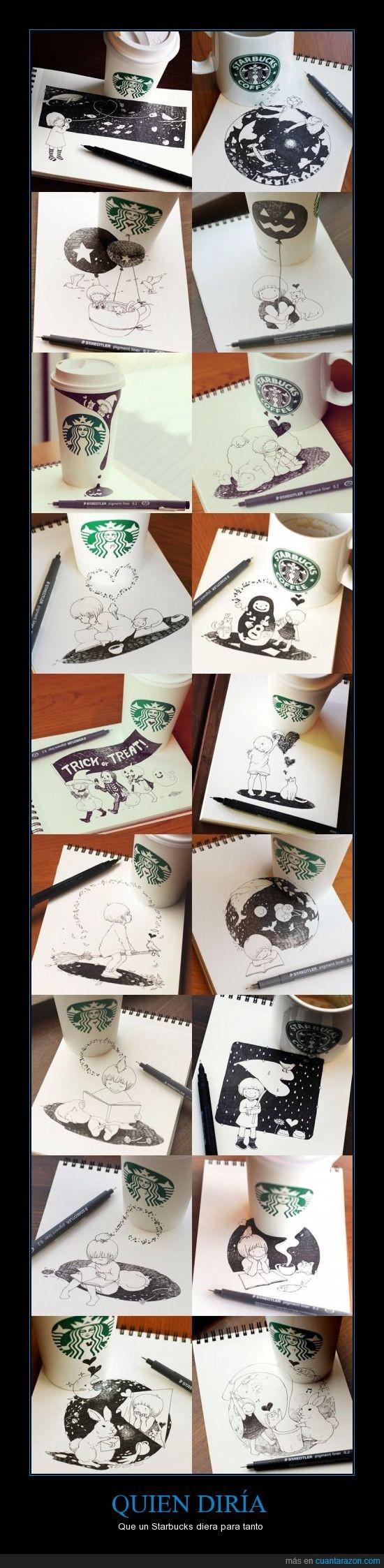 arte,bolígrafo staedler,consomé de almejas,dibujos,si; esta es la cafetería donde van los hipsters iDiots con sus iMacs y iPhones,staburcks