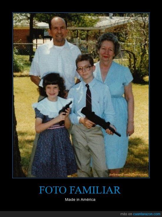 abuela,Armas,familia,niños,pistola,toooooooodos locos