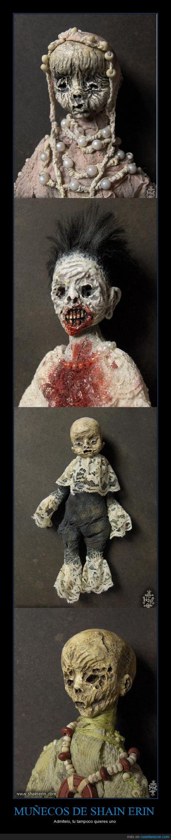 cadáveres,feos,macabros,muñecos,qué miedete,shain erin
