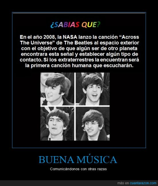 across the universe,música,NASA,the beatles