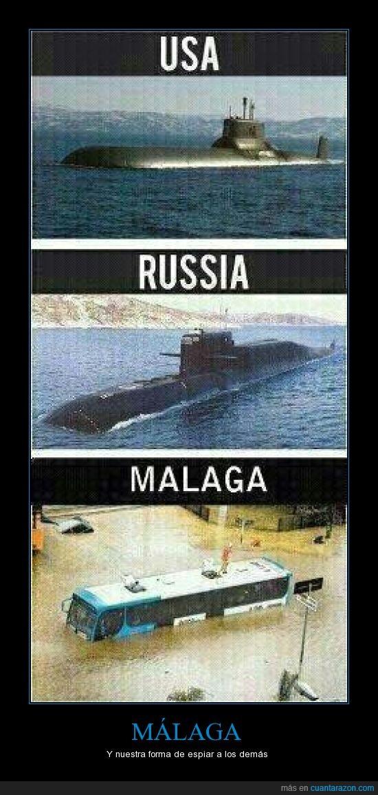 inundacion,lluvias,malaga,submarino
