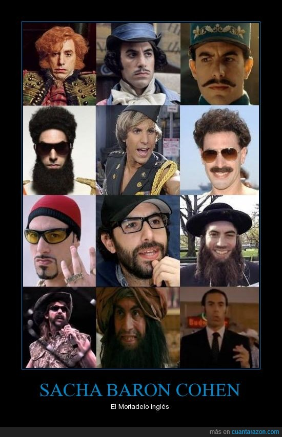 borat,bruno,dictador,disfraces,polifacetico,Sacha Baron Cohen