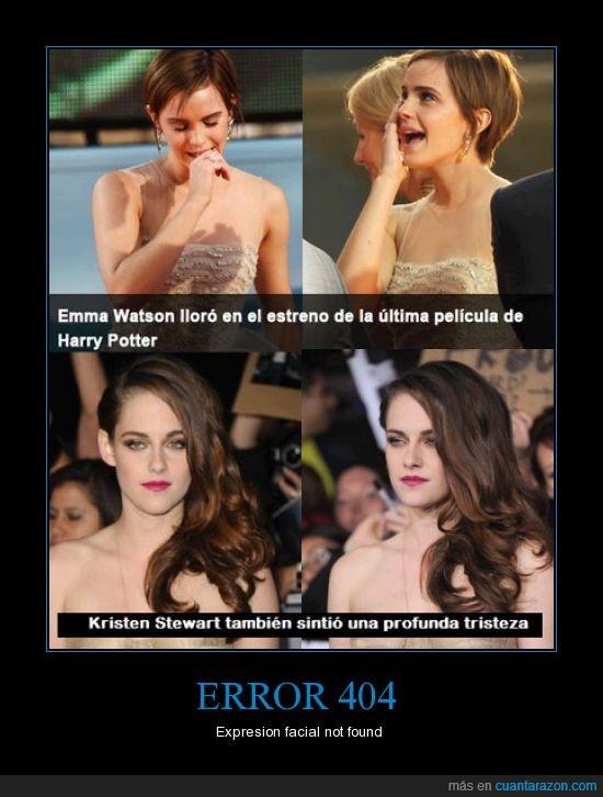 crepusculo,Emma Watson,final,Harry,Kristen Stewart,lagrima,llorar,saga,twilight