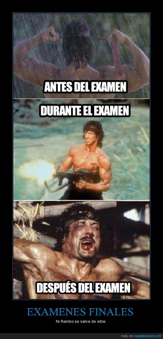 dolor,examenes,Rambo,stallone,valor