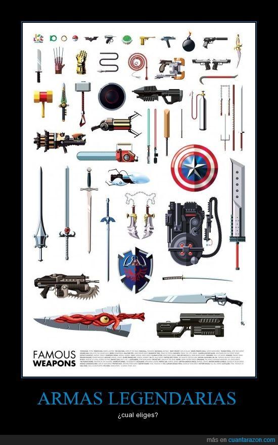 armas,buster ni en pedo las nombro a todas,famosas,juegos,muchas,peliculas,pokeball,the one