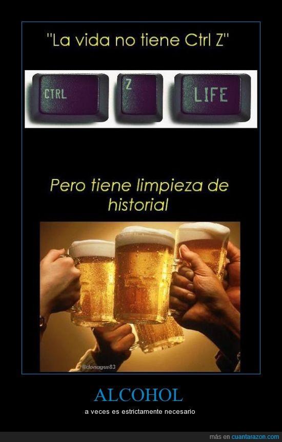Alcohol,bill gates inventó el ctrl+z,ctrl+z,historial,LOL,necesidad,si no has visto la hora chanante no lo vas a pillar,vida,wololo.
