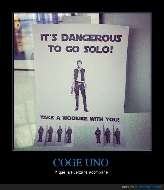 anuncio,hans solo,star wars,wookie