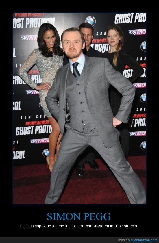alfombra roja,Hollywood,jodefotos,Simon Pegg,Tom cruise