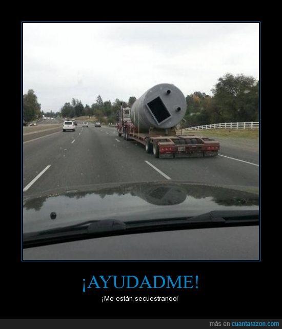 calle,Camión,cara,foto,metrímetro,secuestro,tubo