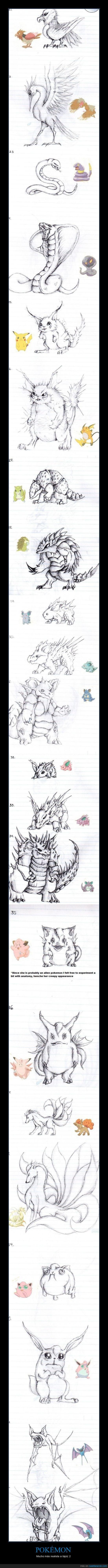 dibujo,infancia,mola,pokémon,realista,reinventado