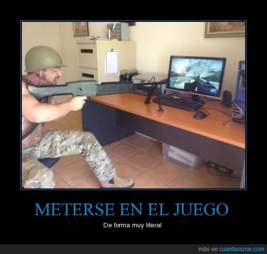 guerra,juego,literal,meterse,sentir,soldado