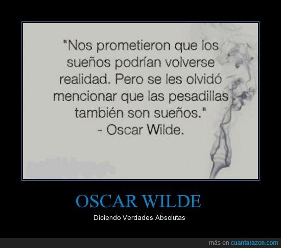 Cartel,Frases,Oscar Wilde,Pesadillas,Sueños