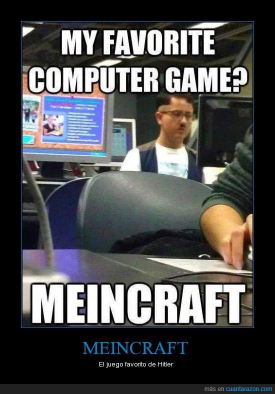 Hitler,juego,meincraft,minecraft