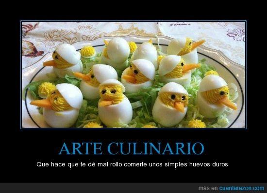 arte culinario,cocina,cocinar,ensalada,huevos,pollitos