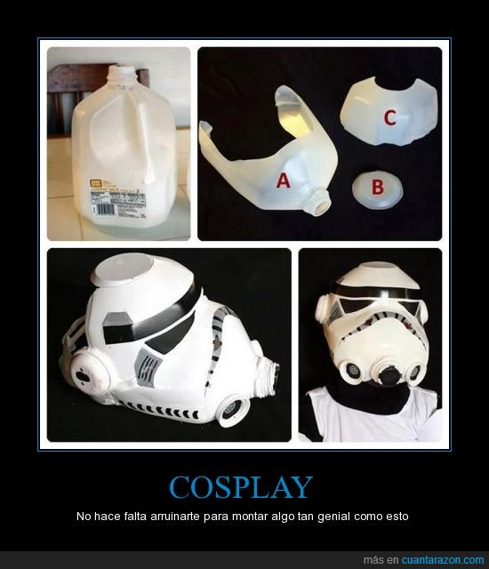 bidones,cosplay,máscara,soldado imperial,Star Wars