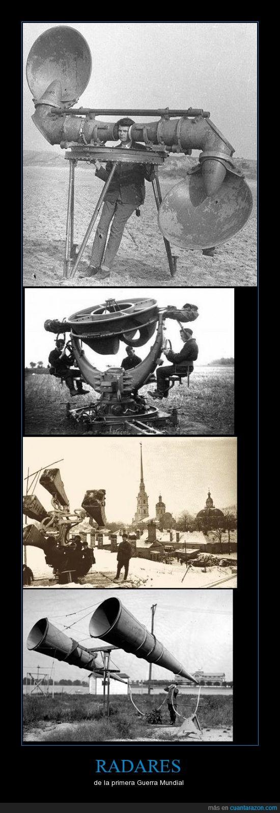 guerra,mundial,oidos,primera,radares
