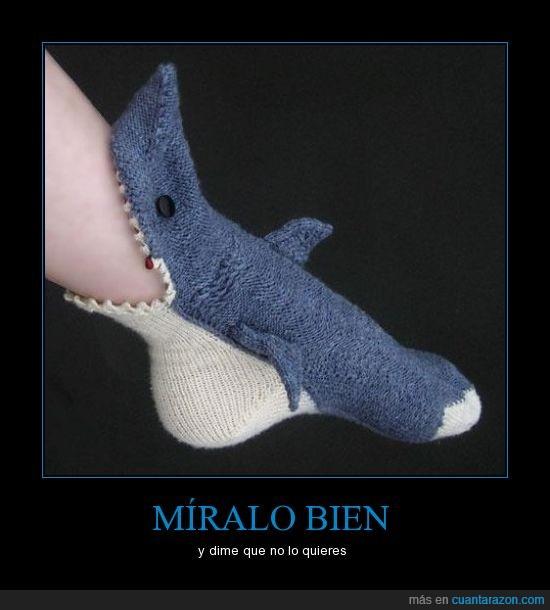 Calcetín,original,tiburón