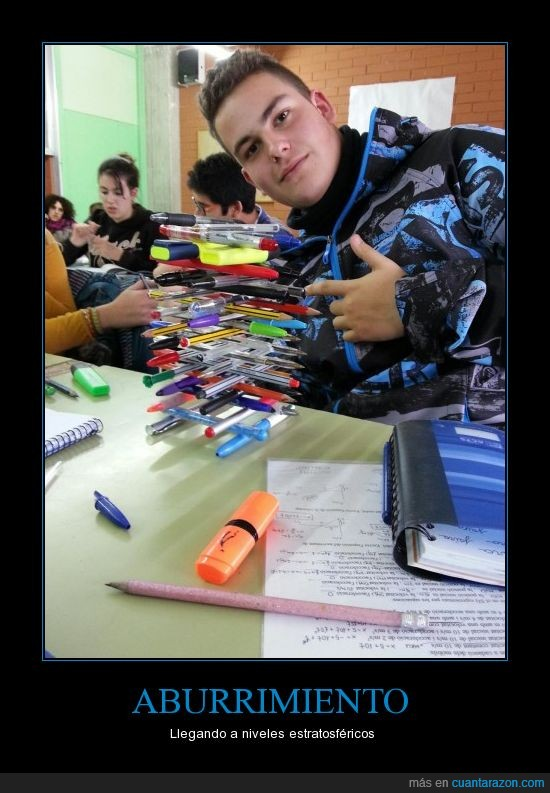 aburrimiento,boli,bolígrafos,clase,equilibrio,lapiz