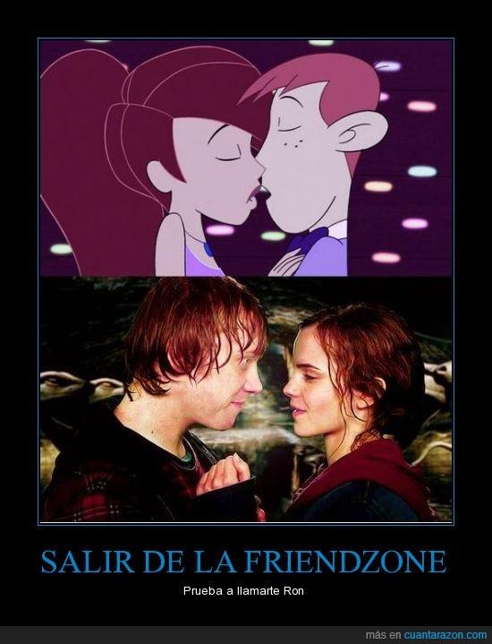 friendzone,harry potter,Hermione,Kim,Ron,salir