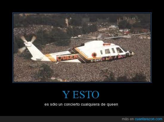 concierto,grandes,helicóptero,masas,multitud,música,queen