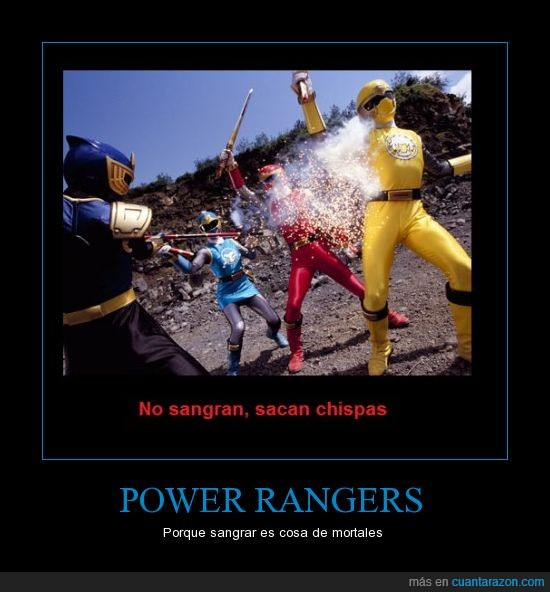 chispas,fail,power rangers,sangre