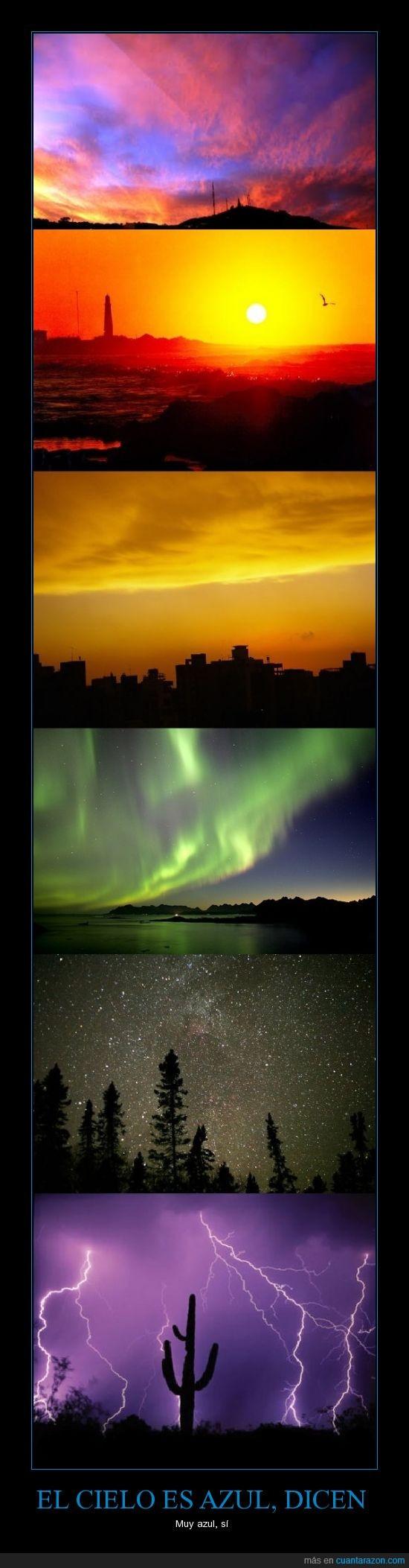 azul,cielo,colores,horizonte,relámpagos