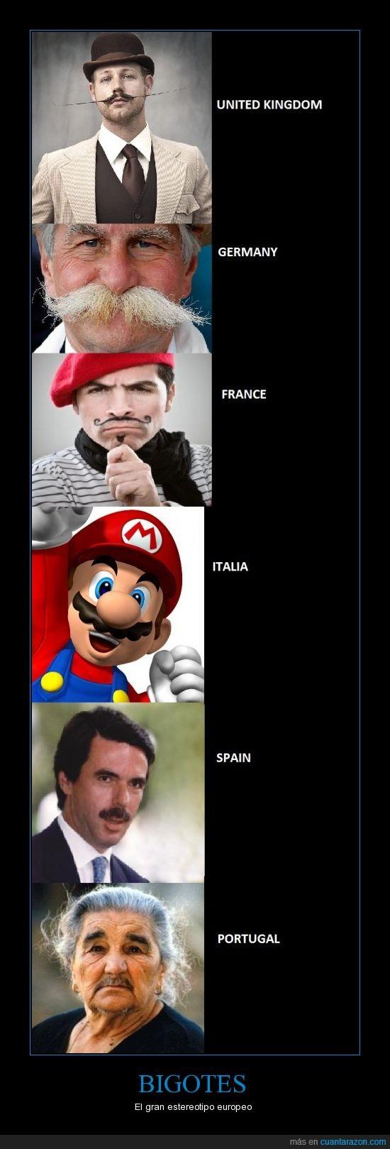aznar,bigotes,estereotipo,europa,mario,portugal