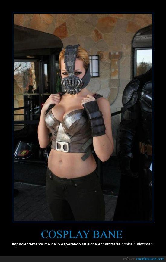 bane,batman,chica,cosplay