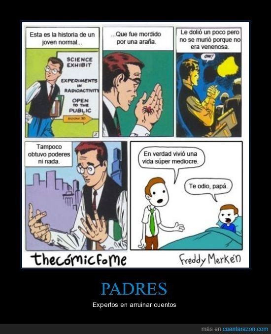 araña,cuento,Padres,spiderman,troll