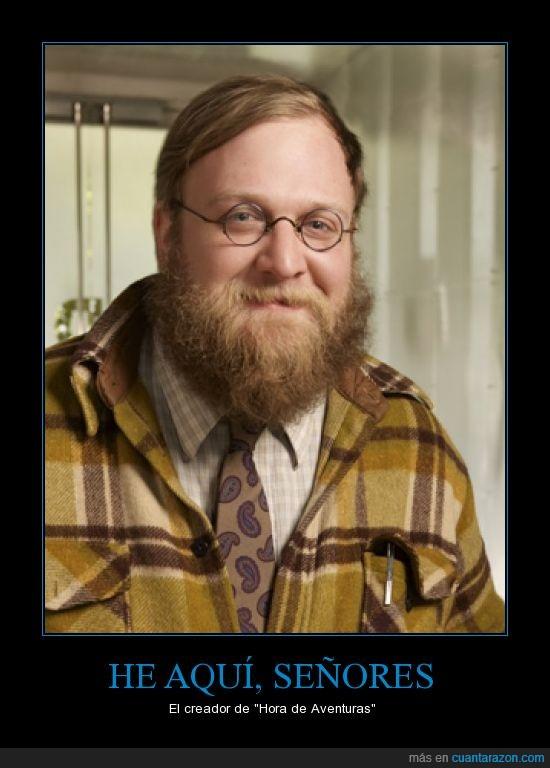 adventure time,barba a lo Four Year Strong,Barba enorme,hora aventuras,Pendleton Ward se llama