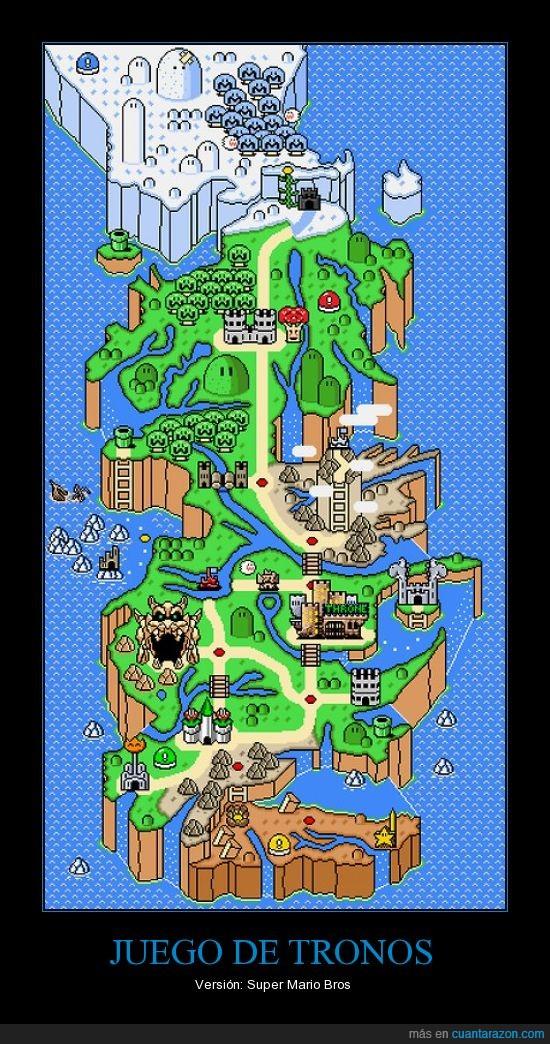 juego de tronos,mapa,mario,mundo,NESteros,westeros